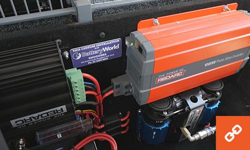 Battery World electronics in MU-X